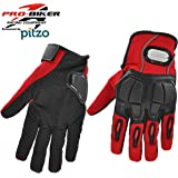 Probiker Black Carbon Fiber Protective Gloves for Motor cycle / Bike /Moto Cross / Outdoor Sports Bicycle Cycling / Racing / Driving / Riding - Full Finger