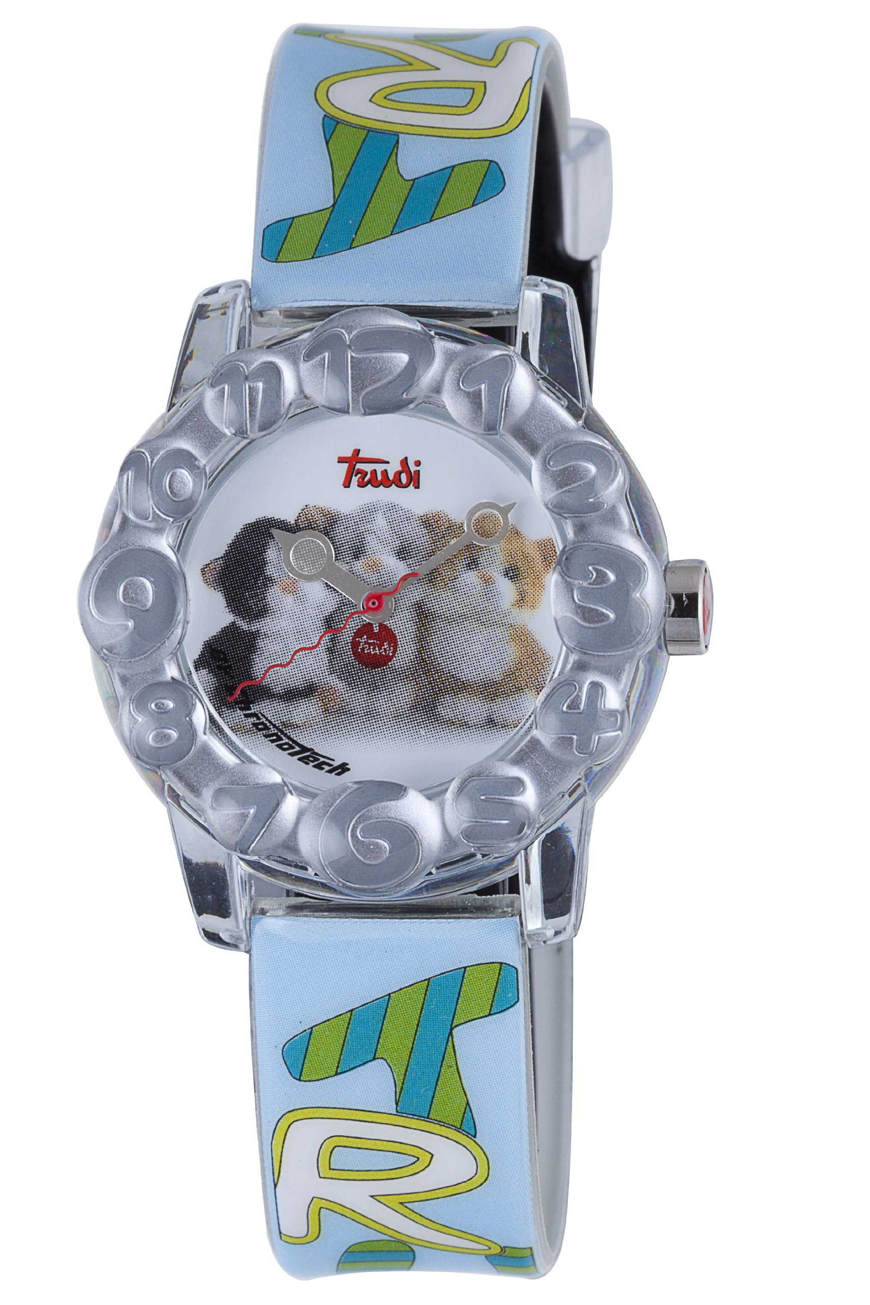 Trudi Kid's Three Kittens Watch, Light Blue