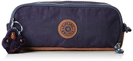 Kipling Gitroy Pencil Cases, 23 cm, 1 liters, Blue (Blue Tan Block)