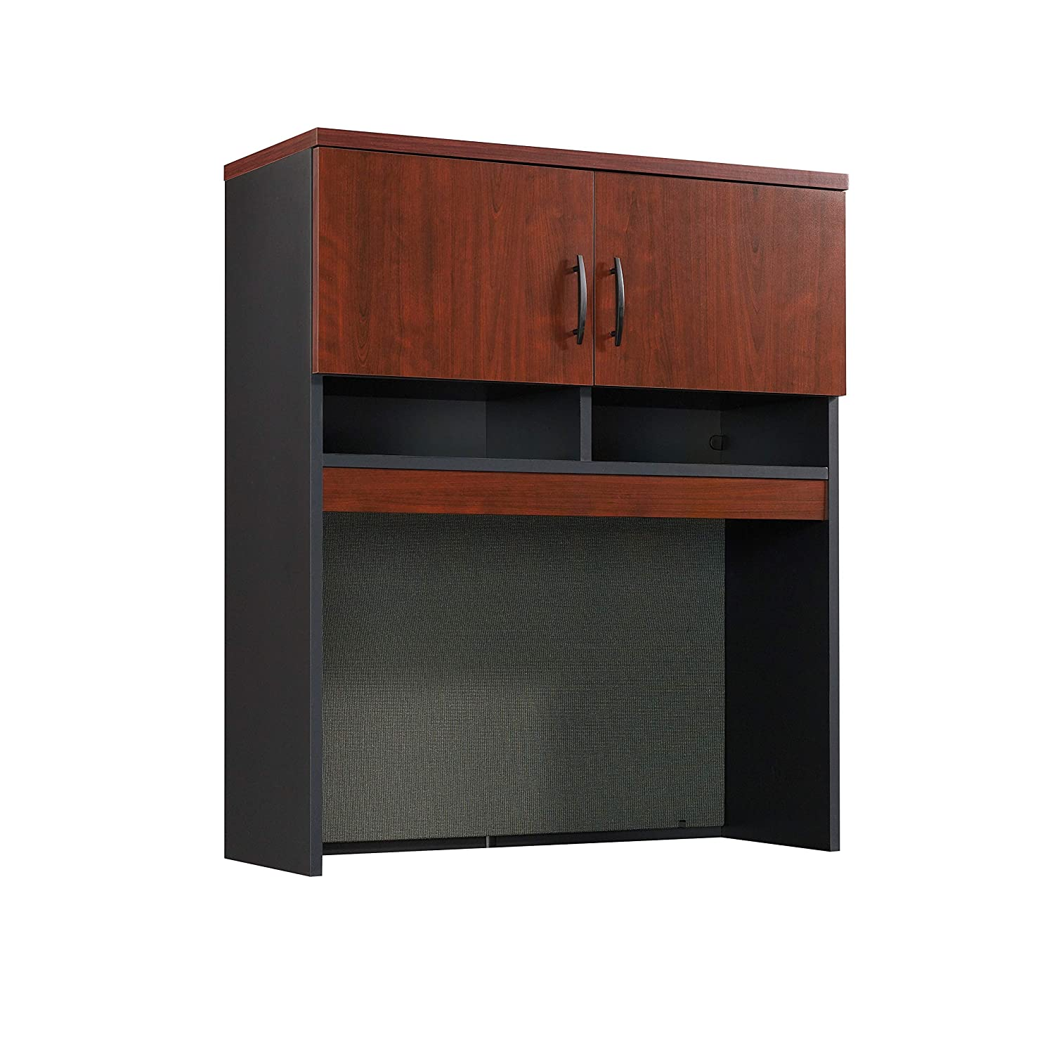 Sauder 401445 Via Lateral File Hutch, Classic Cherry and Soft Black Finish Sauder Woodworking Co