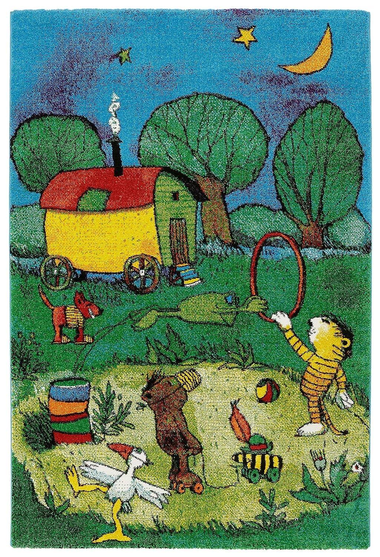 Janosch Kinderteppich Kinderzimmer Spielteppich Mit Tigerente Design Ökotex, Größe 160 x 230 cm, Farbe Tigers Reise B00X7FOS62 Teppiche & Lufer