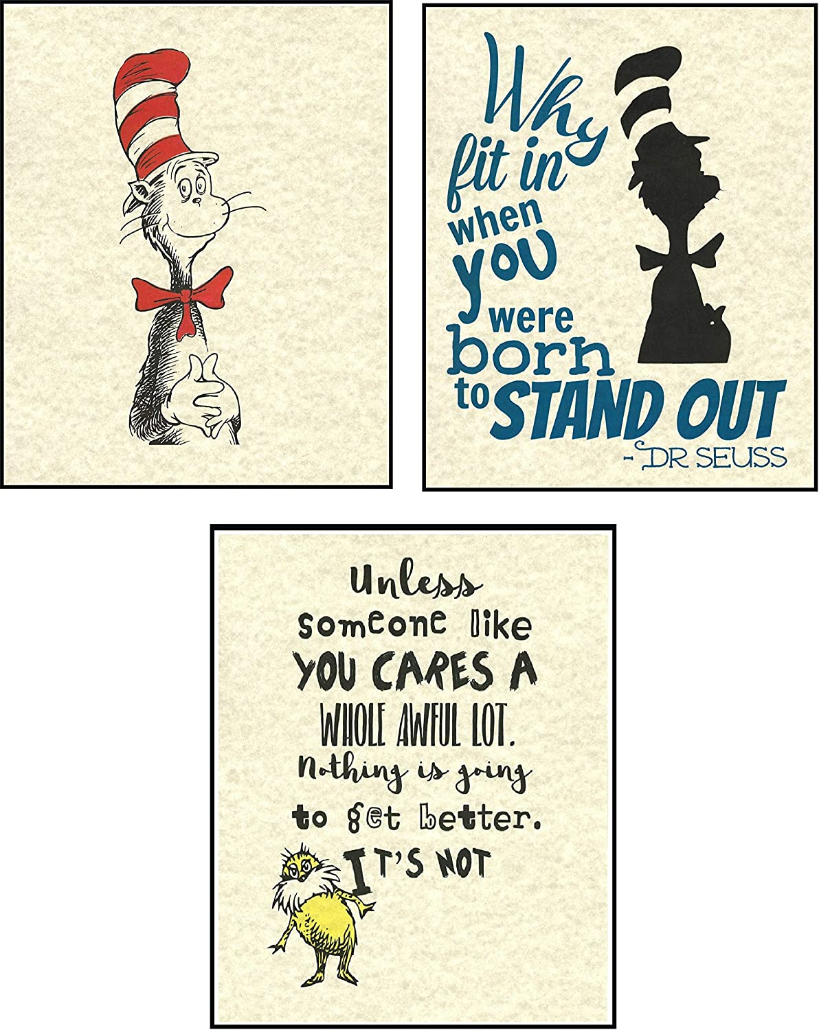 Amazon Com Set Of 3 Children S Inspirational Quotes Artwork Prints Picture Poster Home Office Bedroom Nursery Kitchen Wall Decor Unframed Everything Else