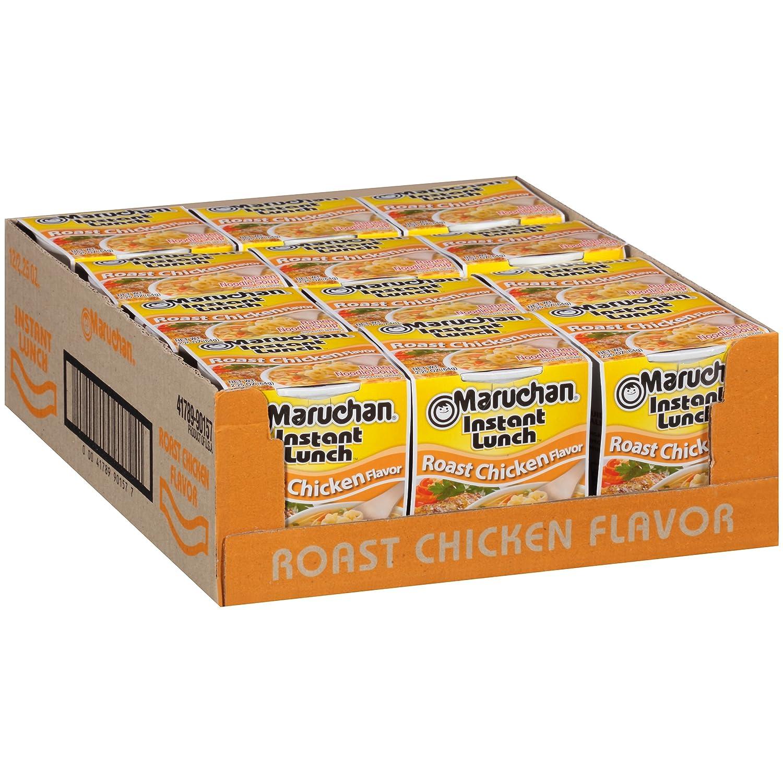Maruchan Instant Lunch Roast Chicken Flavor, 2.25 Oz, Pack of 12