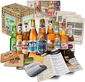 9 Cervezas de las especialidades, de mundo a las mejores cervezas delmundo dan awaywith caja de regalo (no cerveza barata): Amazon.es: Alimentación y bebidas