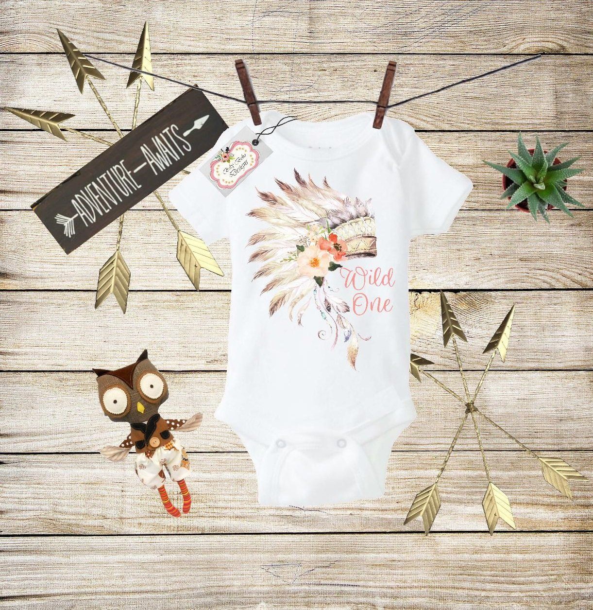 Boho Baby Clothes Wild One Bodysuit Wild One Baby Boho Bodysuit First Birthday Boho Outfit Toddler T-shirt Baby Shower Gift Custom Clothes Infant Bodysuit Baby Boho Clothes Baby Boho Designs