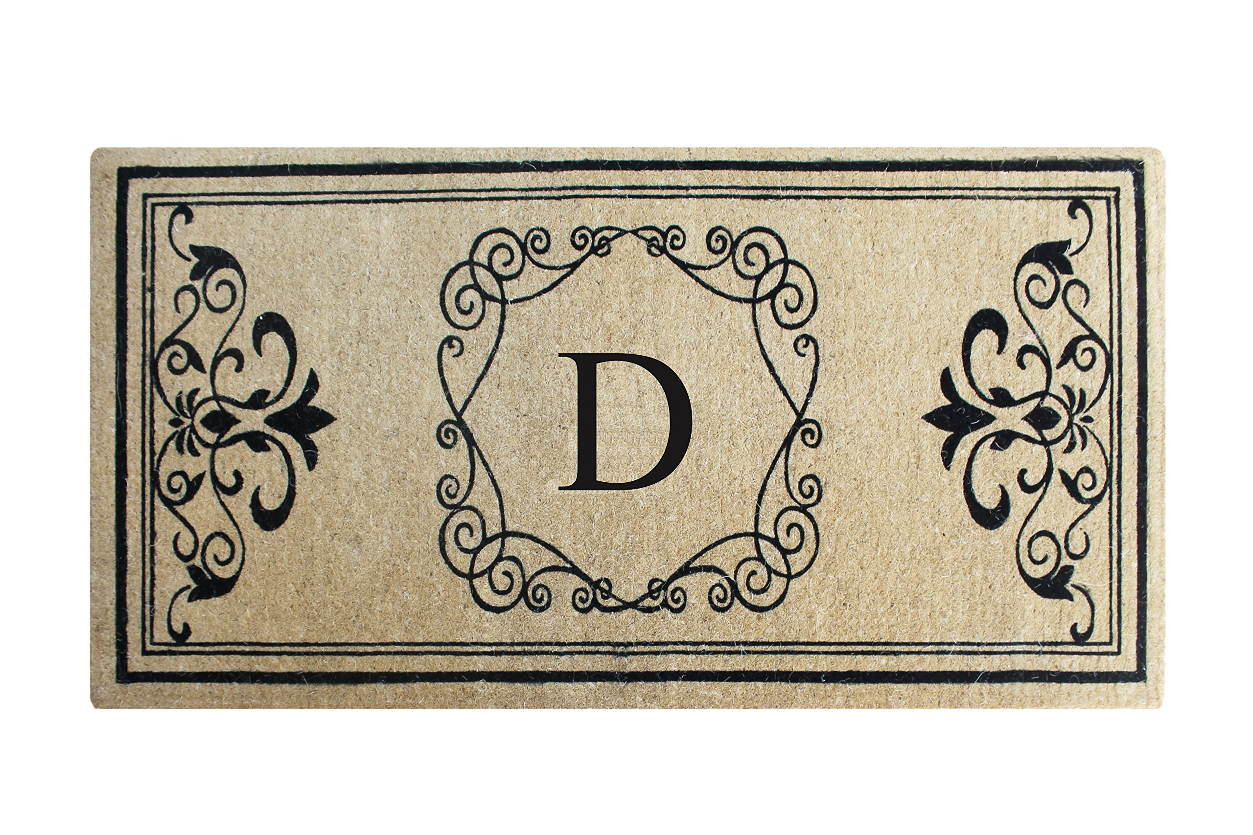 A1 Home Collections First Impression Hayley Estate Extra Thick And Durable Anti Shred Monogrammed Double Door Mat, 36'' W x 72'' L, X -Large