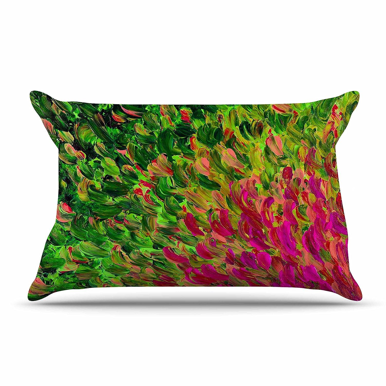 30 x 20 Pillow Sham Kess InHouse EBI Emporium Watermelon Splash Green Fuchsia