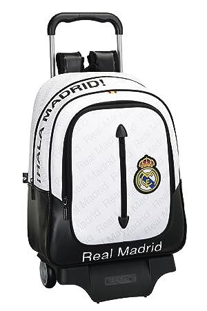 Safta Real Madrid Mochila Grande con Ruedas, Color Blanco: Amazon.es: Equipaje