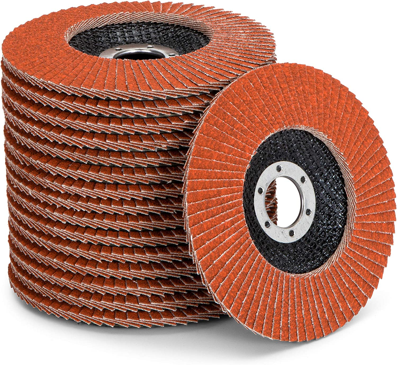 grain 40 disques abrasifs /Ø 125 mm disques /à lamelles marron standard Lot de 10 disques /à lamelles