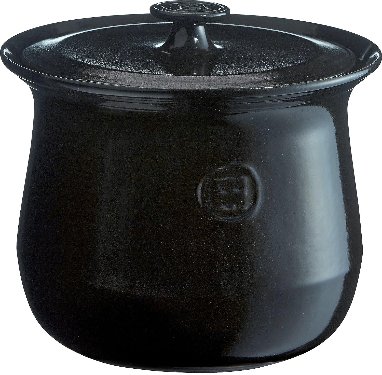 Emile Henry 795580 France Flame Cookware Soup Pot, 4.2 quart, Charcoal