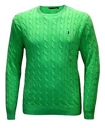 Polo Ralph Lauren Men\u0027s Sweater OPTIC LIME SHIRT BIG AND TALL little pony  ...