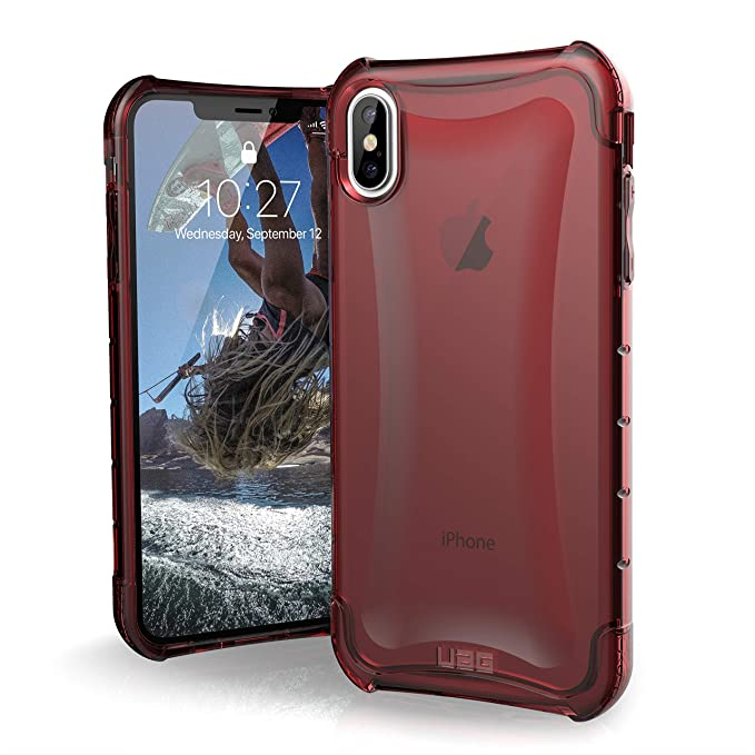 uk availability 6f73d 46a4d URBAN ARMOR GEAR UAG iPhone Xs Max [6.5-inch Screen] Plyo Feather-Light  Rugged [Crimson] Military Drop Tested iPhone Case
