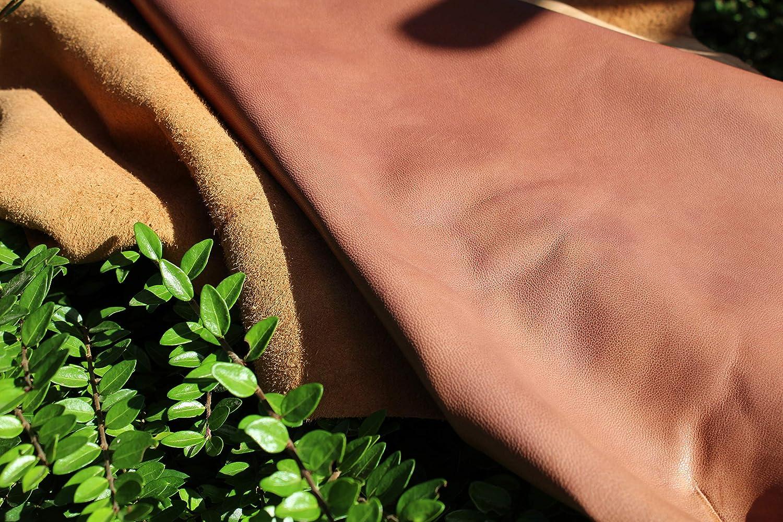 Antik Touch in braun -- leichter Pull Up Effekt im Leder Taschen Vegetabil // pflanzlich gegerbte Lammleder Tolle Lammnappa H/äute weich Beutel usw F/ür Bekleidung eindrucksvoll kr/äftig