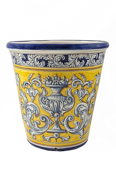 Macetero de cerámica de Talavera de la Reina: Amazon.es: Hogar