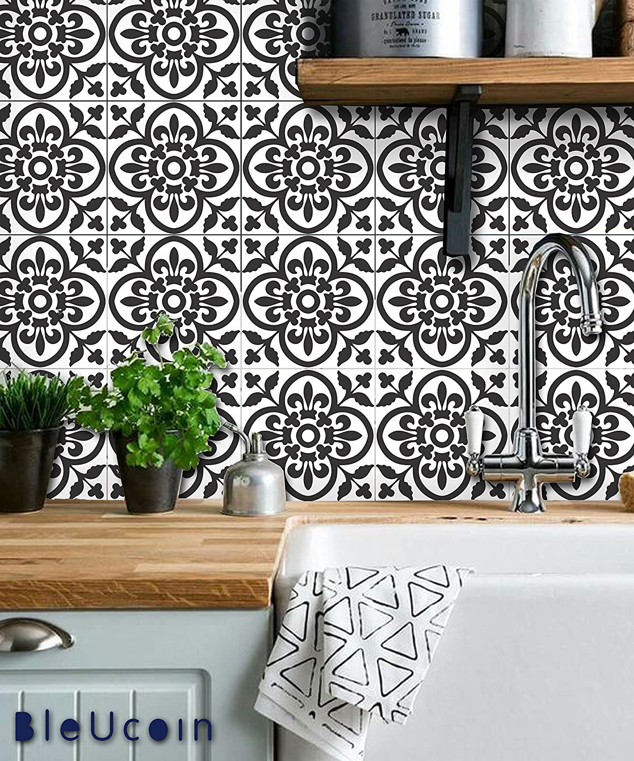 - Amazon.com: Moroccan Terracotta Peel And Stick Tile Stickers For