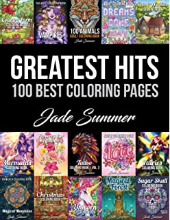 Amazon Com Adult Coloring Book Favorite Pages 50 Premium Coloring Pages From The Jade Summer Collection 9781982989811 Summer Jade Books