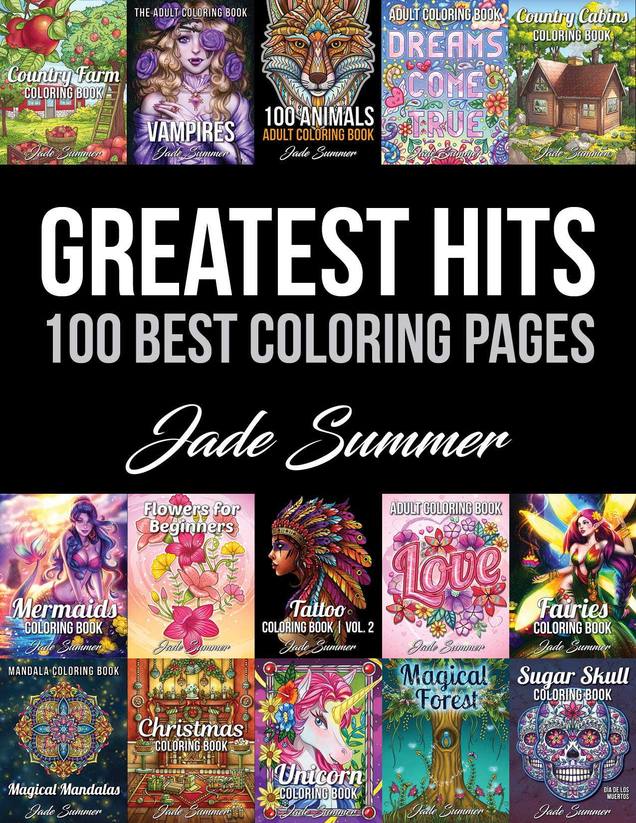 Amazon.com: Greatest Hits: An Adult Coloring Book with the 10