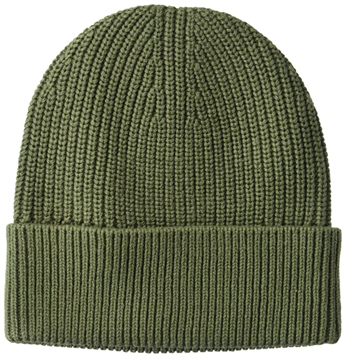 Goodthreads Men's Soft Cotton Washed Beanie, Solid Olive, one Size best men's beanies
