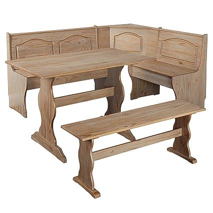 Amazoncom Svitlife Knox 3 Piece Nook Set Dining Table Set Chairs