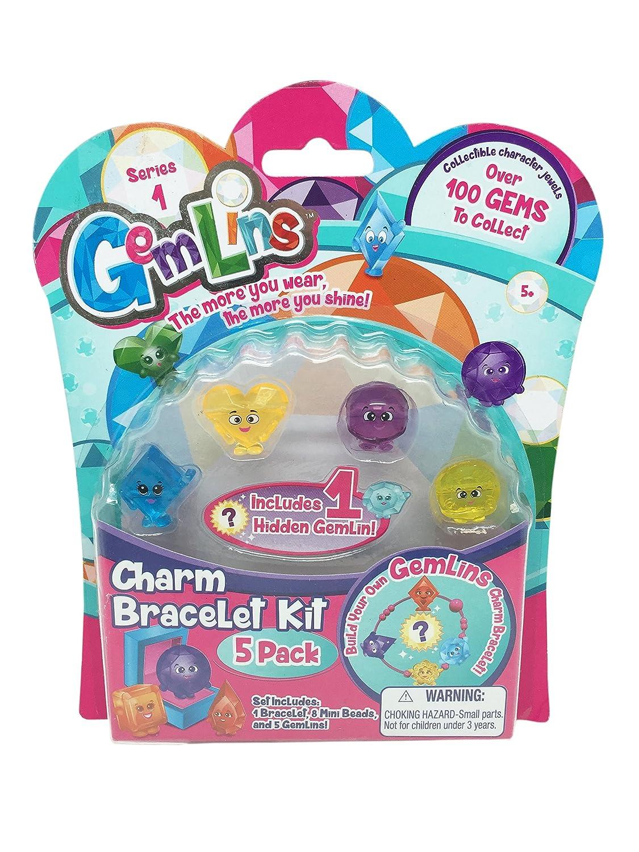 Amazon: Dgl Gemlins Family Charm Bracelet Kit (5 Pack), Assorted  Colors: Toys & Games