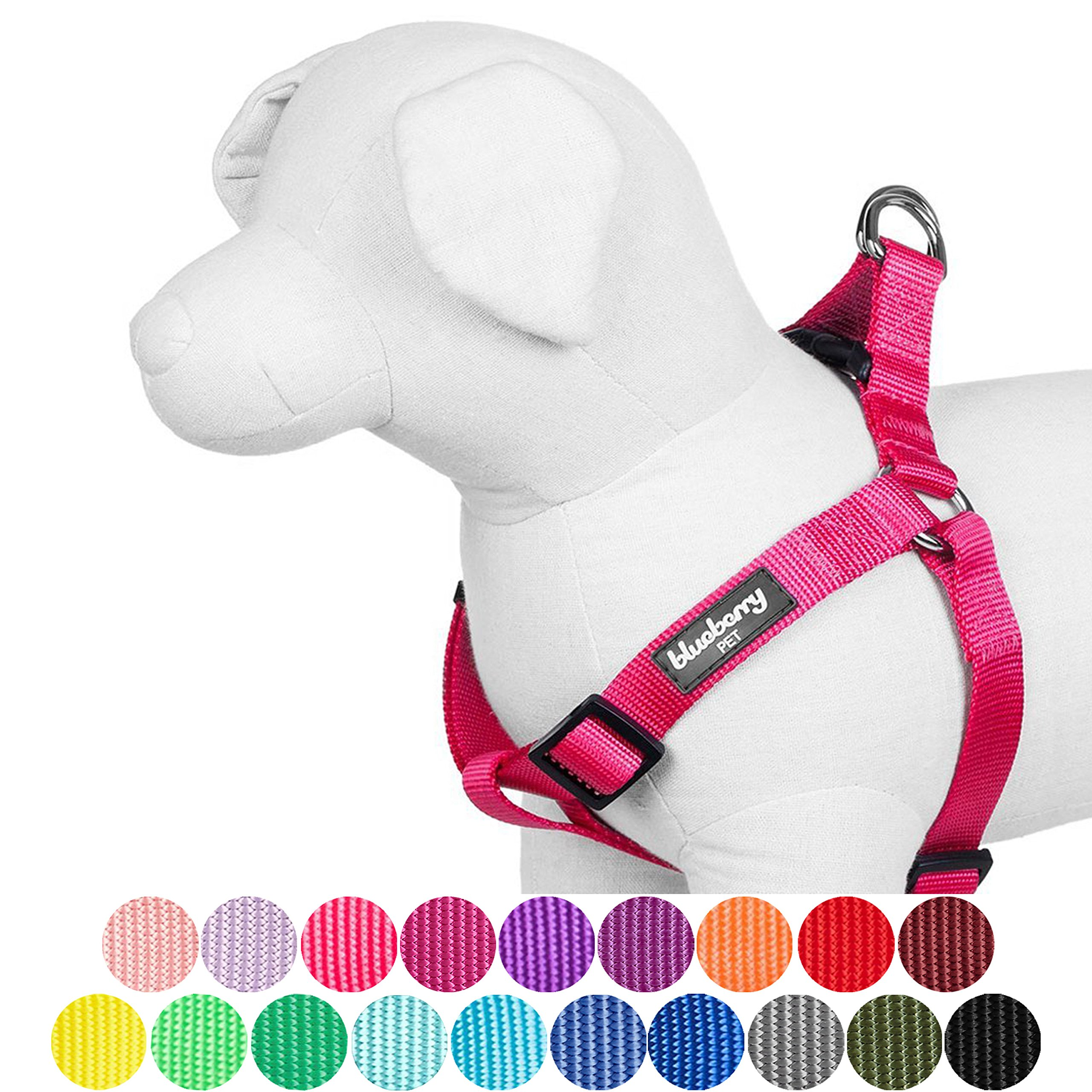 Blueberry Pet 19 Colors Step-in Classic Dog Harness, Chest Girth 26'' - 39'', French Pink, Large, Adjustable Harnesses for Dogs