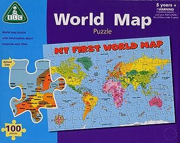 World map puzzle 100 piece puzzle amazon toys games world map puzzle 100 piece puzzle gumiabroncs Images