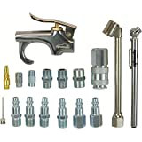 17 Piece - EPAuto Type D Industrial 1/4-inch Air Compressor Connect Coupler / Plug / Tool Kit