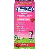 Children's Benadryl Allergy Liquid, 8 Oz
