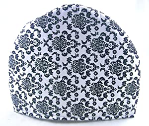 Handmade Fabric Tea Cozy - Lined and Padded Cosy - New Black and White French Toile Chintz