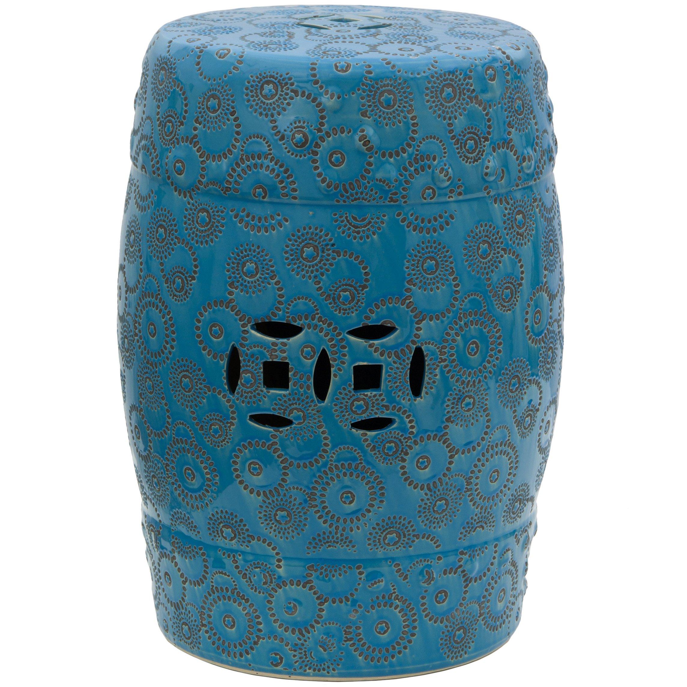 Oriental Furniture 18'' Spherical Design Porcelain Garden Stool