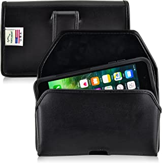 product image for Turtleback Holster Compatible with Apple iPhone 8 Plus & iPhone 7 Plus w/Otterbox Commuter case Black Belt Case Leather Pouch with Executive Belt Clip Horizontal Made in USA