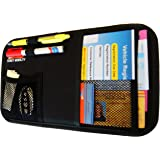 Fancy Mobility Car Sun Visor Organizer - Auto Document and Small Storage Holder - Pouch for Registration and Insurance - Perfect Minimalist Design - Comes With a Unique eBook and 5-Year Warranty
