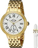 GV2 by Gevril Astor Womens Diamond Swiss Quartz Gold Tone Stainless Steel Bracelet Watch, (Model: 9101)