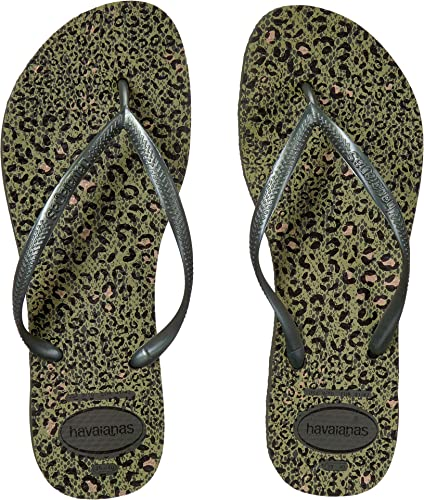bfe4d079bce6 Havaianas Women s Slim Animals Flip Flop Sandals Olive Green 11 12