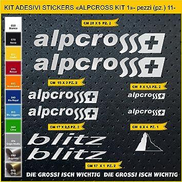Kit Pegatinas Stickers Bicicleta ALPCROSS Blitz -Kit 1-11 Piezas- Bike Cycle Cod. 0833 (090 Argento): Amazon.es: Deportes y aire libre