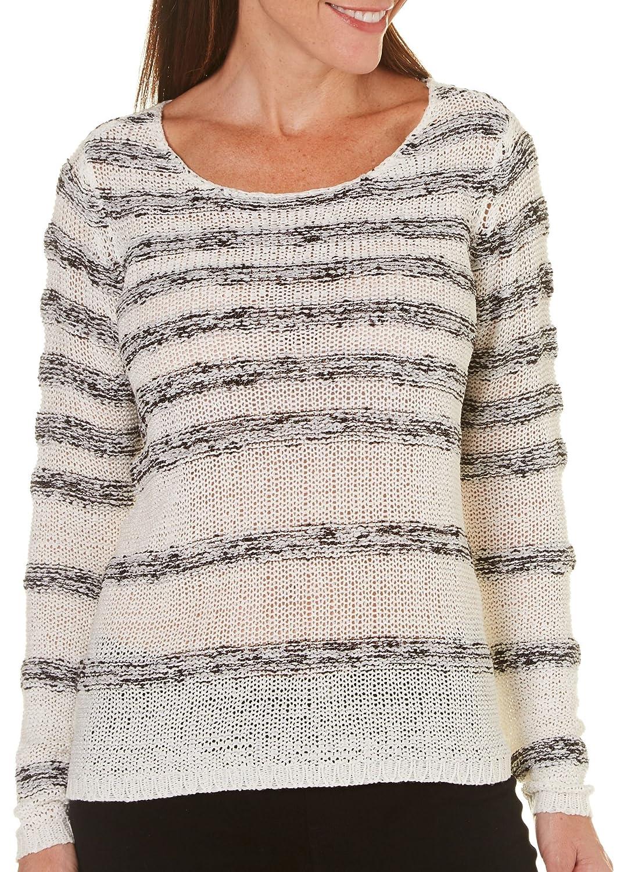 Caribbean Joe Petite Marled Yarn Sweater