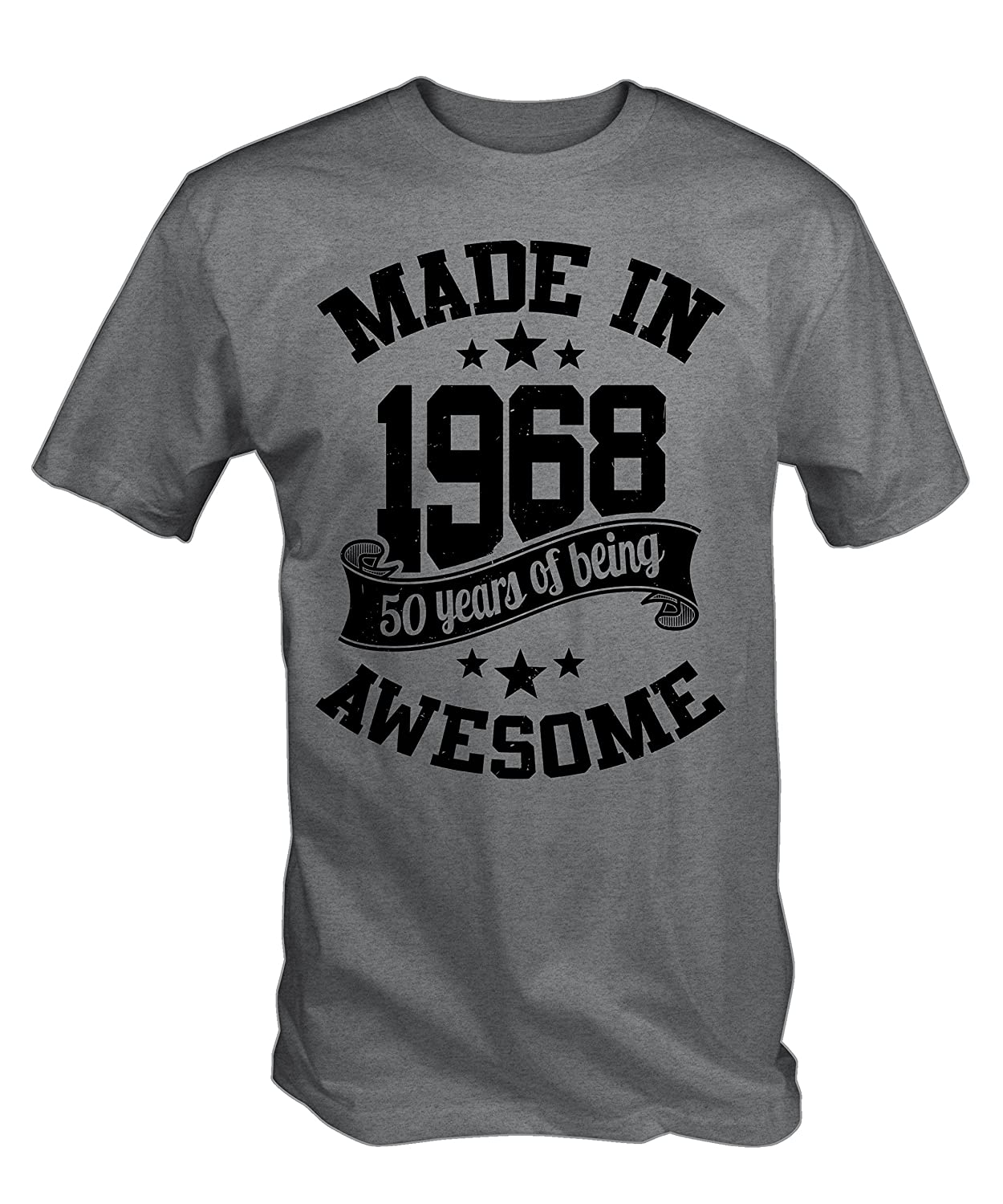 70c8ca370 Made in 1968 50 Years of Being Awesome T Shirt: Amazon.co.uk: Clothing