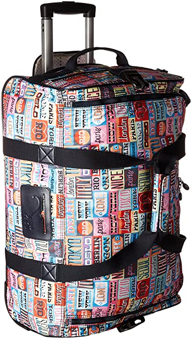 fe83fd5532fe Amazon.com  Kipling Women s Discover Small Printed Wheeled Duffle ...