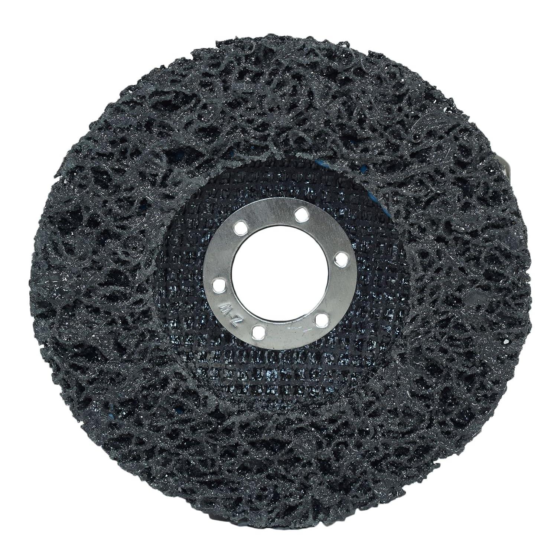 Disque de 115 mm de la bande de nettoyage peinture antirouille Sablage Graffiti 2 x roue caram/élis/ées