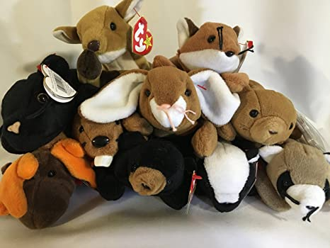 37bd19dc75e Image Unavailable. Image not available for. Color  TY Beanie Babies Lot Of 10  New ...