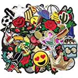 Dandan DIY 50pcs Random Assorted Styles Embroidered Patch Sew On/Iron On Patch Applique Clothes Dress Plant Hat Jeans Sewing Flowers Applique Diy Accessory (Assorted-Style 5)