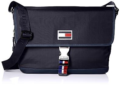 06393d61405f Amazon.com  Tommy Hilfiger Messenger Bag for Men TH Sport Eyelets ...