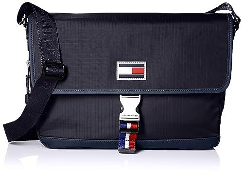 06c34639c2 Amazon.com: Tommy Hilfiger Messenger Bag for Men TH Sport Eyelets ...
