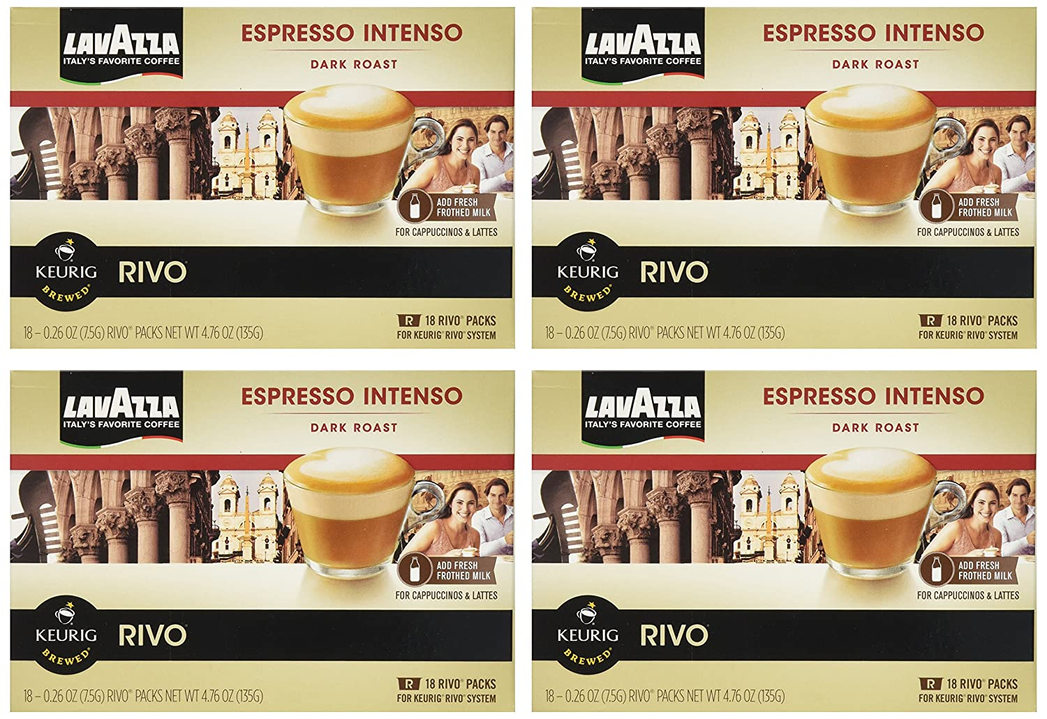 LAVAZZA ESPRESSO INTENSO 72 PACKS made for KEURIG RIVO SYSTEM
