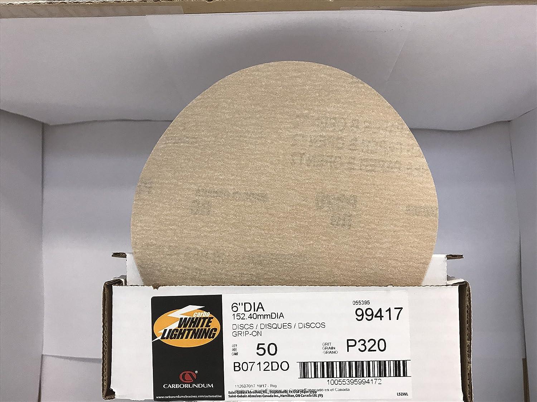 Carborundum 99417 6 Velcro Sand Paper Discs 320 Grit 50pk