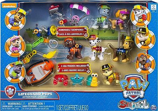 PAW PATROL – 6044307 – Pack de 6 Figuras de acción Sea Patrol – la Pat Patrulla: Amazon.es: Juguetes y juegos
