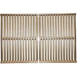 Music City Metals 534S2 Stamped Stainless Steel Cooking Grid Replacement for Select Gas Grill Models by Charbroil, Charmglow and Others, Set of 2