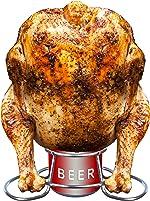 PBKay Beer Can Chicken Holder - Stainless Steel Beer Chicken Roaster