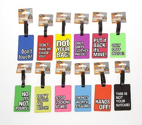 Etiquetas de equipaje divertidas-Etiquetas para maletas