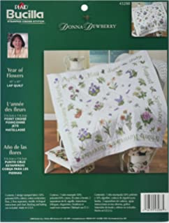 Amazon.com: Bucilla St&ed Embroidery Kit, 45 by 45-Inch, 45178 ... : stamped embroidery quilt kits - Adamdwight.com